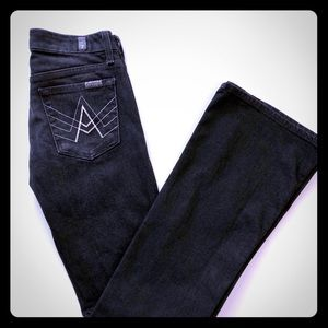 7 For All Mankind 'A Pocket' Black Jeans Size 24